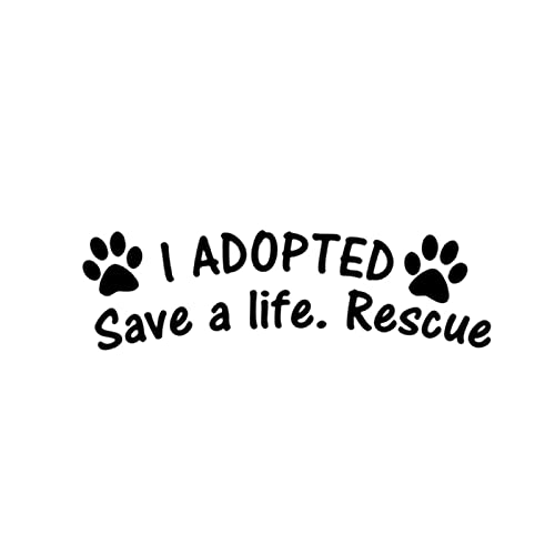 A/X I Have Adopted A Life-Saving Rescue Dog Cat Pet Paw Print Vinyl Car Packaging Accessories Product Decal Car Sticker