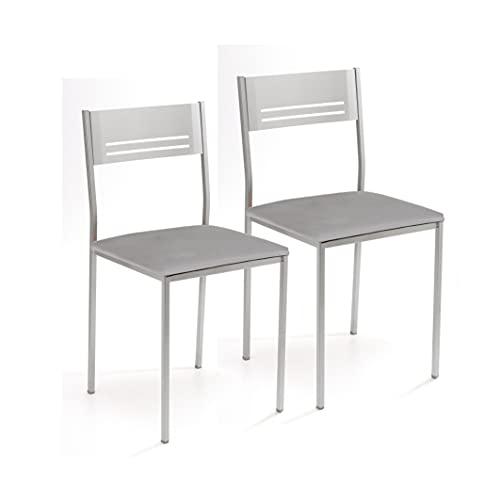 Sillas De Comedor Blancas Y Metal sillas de comedor blancas  Marca ASTIMESA