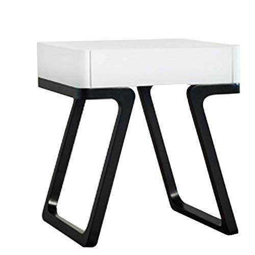 Équipement quotidien Table de chevet en bois Petite table basse dans le salon Table de lampe de table de chambre à coucher Table d'angle de canapé Table de loisirs de balcon Support de fleur (Coule