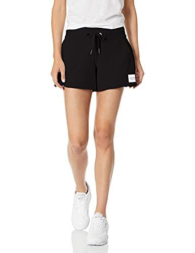 "Calvin Klein Women's Premium Performance 3.5"" Drawstring Elastic Waist Short, Black, X-Large"