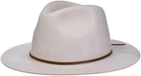 Brixton unisex adult Wesley Fedora Silver Small US product image