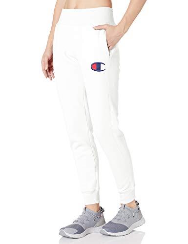 Champion Damen Reverse Weave Jogger-Left Leg Big C Jogginghose, weiß, X-Groß