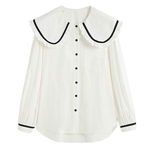 NOBRAND New Casual Girl with Baby Collar Gr. M, weiß