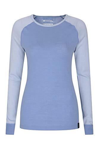 Camiseta c/ómoda para Acampar Camiseta Transpirable Media Cremallera Mountain Warehouse Camiseta t/érmica Interior en Lana Merina con Manga Larga para Hombre