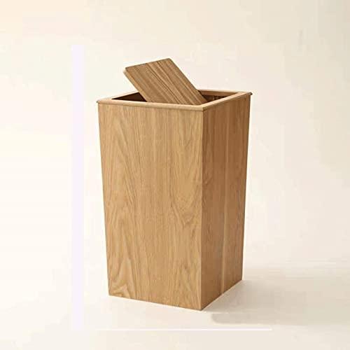DZCGTP Papelera de Reciclaje de residuos/Papelera Papelera de Madera Moderna con Tapa abatible, Papelera o Papelera de Reciclaje para el hogar o la Oficina 9.2 * 9.2 *