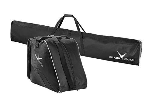 Black Crevice Unisex– Erwachsene Skitaschen Set, schwarz/Silver, Einheitsgröße