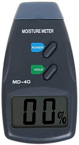 SLL 4-Pin LCD Display Digital Wood Moisture Meter Damp Detector Tester, Moisture Meter Plaster Tool