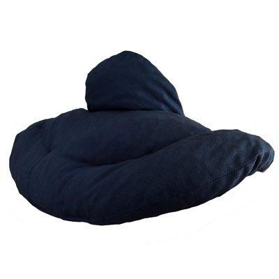 Cuscino del collo, blu scuro. Cuscino termico con noccioli di ciliegia, terapia caldo e freddo. Scaldacollo