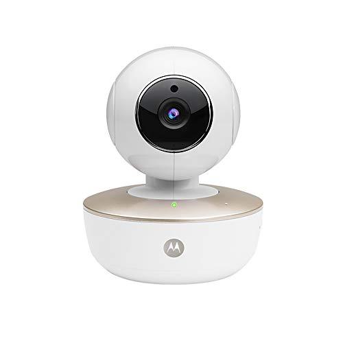 Motorola Baby MBP 88 Connect - Cámara de vídeo Vigilabebés Portátil con WiFi, Modo Eco, Alertas para Movimiento, Sonido y Temperatura Ambiente y Moto StarGrip, Color Blanco