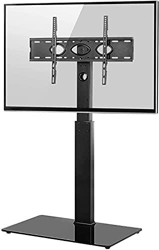 DZCGTP Soporte de TV de Piso Universal con Soporte de Montaje para Pantalla Curva Plana de 32 a 65 Pulgadas Ajustable en Altura (Color: Negro)