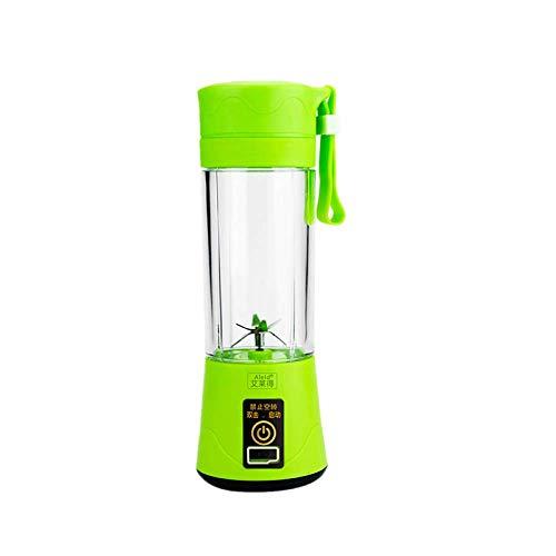 Mixer Mini Mixer Saft Tasse, tragbare elektrische Saft Tasse sechs Messer Glas grün