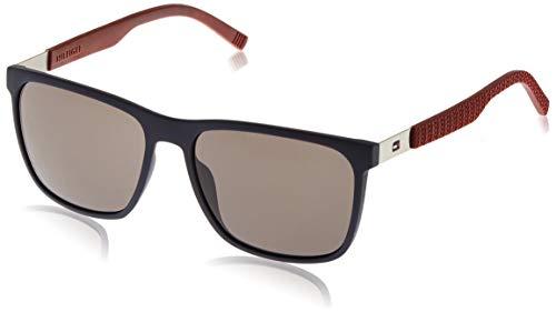 Tommy Hilfiger - TH 1445/S - Sonnenbrille Herren Rechteckig - Gummi und metall - 100% UV schutz - Schutzkasten inklusiv