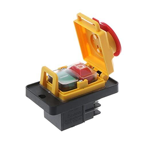 XIAOFANG KJD12 250V 4- Pin Start Stop Detener EL Interruptor DE Pulso DE LIBERACIÓN DE VOLTOS NVR Máquinas comunes a Las máquinas de arboleda y Metal.