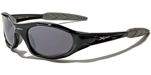 X-Loop  Alto Perfil de los Corredores de Ciclismo Gafas de Sol 2 Negro Medio Negro