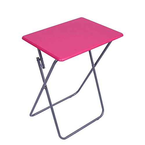 SJZC Klapptisch Kleiner Schreibtisch Multifunktional Tabelle Camping Tisch im Freien,Red