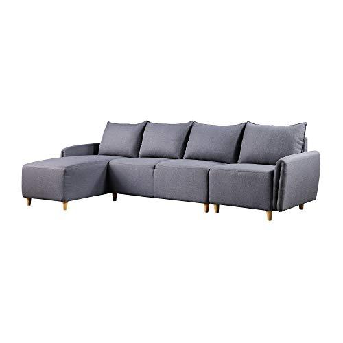 LZZJ El Gris se Puede entregar en Ternary a los días de Septenario, Indestructible, no problemático, de Moda, Estilo modernista, sofá Modular