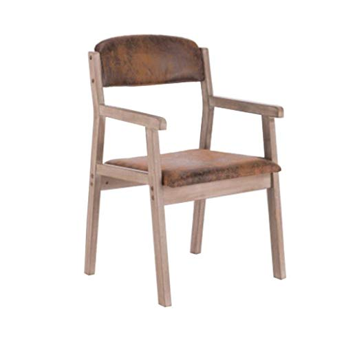 NYDZ Armchair,Dining Chair Wooden Warm Retro Lounge Chairs For Diningroom/Bedroom/Bedroom/Sitting Room Furniture (Color : Brown)