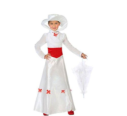 Atosa-56924 Disfraz Dama Inglesa, Color Blanco, 3 a 4 años (56924)