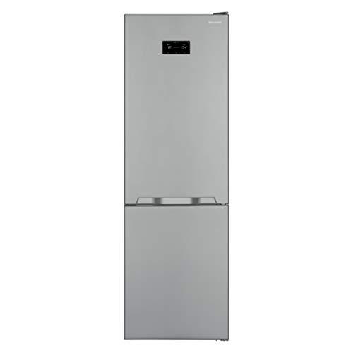 Sharp SJ-BA10IHXI2-EU Kühl-Gefrier-Kombination (Gefrierteil unten) / A++ / Höhe 186 cm / 263 kWh/ZeroDegreeZone-Lagerung von Frischfleisch und –fisch bei ca. 0°C/Edelstahl Silber