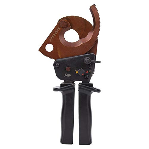 Krimptang, J40A 300 mm2 kabelsnijder met ratel, multifunctioneel gereedschap voor het snijden van kabels, professioneel, geschikt voor aluminium en koper