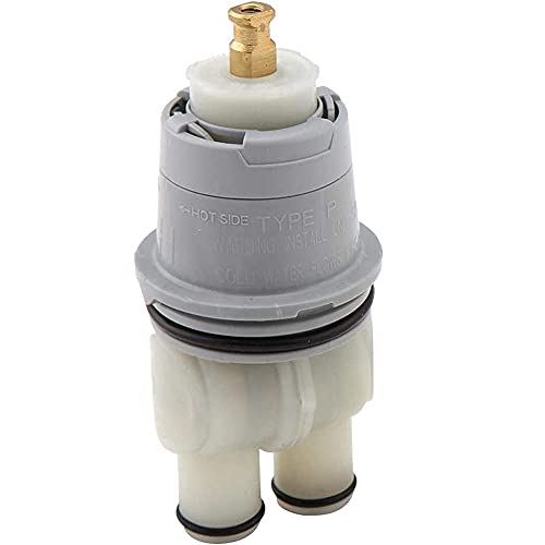Runtodo RP46074 Conjunto universal de cartucho de válvula, 13/14 serie blanco, opción múltiple para Delta Monitor piezas de ducha grifo tina