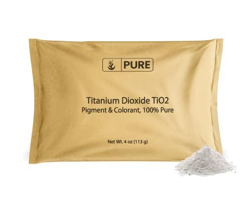 Pure Titanium Dioxide TiO2 (4 oz.)  Eco-Friendly Packaging  DIY Essential