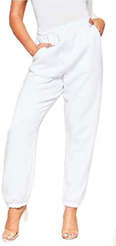 Pantalones de chándal Inferiores para Mujer Bolsillos de Cintura Alta Gimnasio Deportivo Pantalones Deportivos de Ajuste Deportivo Pantalones Lounge