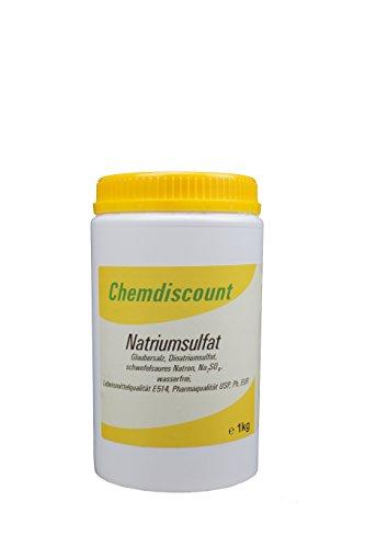 1kg Natriumsulfat (Glaubersalz), wasserfrei, Pharma- und Lebensmittelqualität E512i