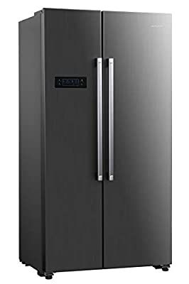 Cookology CSBS500IX 90cm American Side-by-Side Fridge Freezer in Inox, 429L