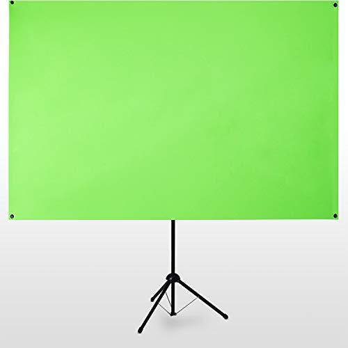 "eSmart Germany X-Type Ultralightweight Greenscreen 161 x 93 cm | 70"" | mobiler Greenscreen | transportabel | 5 kg | Vormontiertes Stativ | Tragetasche"