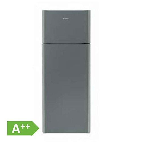 Candy CKDS 5144 X Kühl-Gefrier-Kombination/A++ / 143 cm Höhe / 169 kWh/Jahr / 166 L Kühlteil / 38 L Gefrierteil/Edelstahl/LED Licht