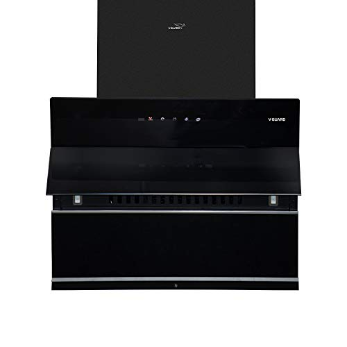 V-Guard Z10 60cm Inclined Kitchen Chimney With 1200m³/hr Suction, Intelligent Auto Clean, Filter-Less, Motion Sensor Controls,...