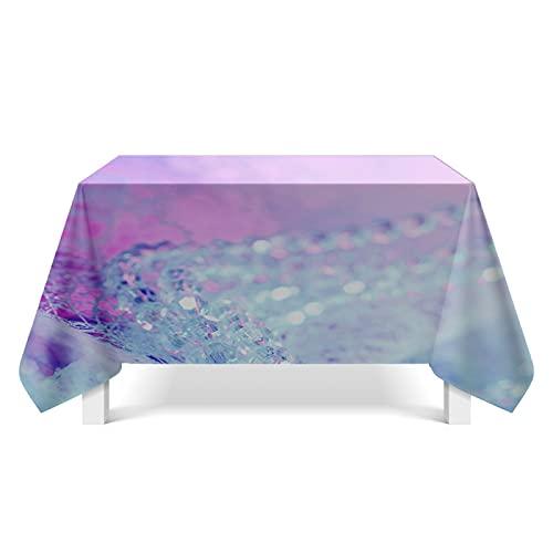XGguo Tischtuch Leinendecke Leinen Tischdecke Abwaschbar, für Home Küche Dekoration Kristallmusterkunst
