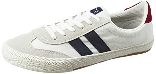 Amazon Brand - House & Shields Men's White Sneakers - 10 UK (44 EU) (11 US) (AZ-HS-044C)