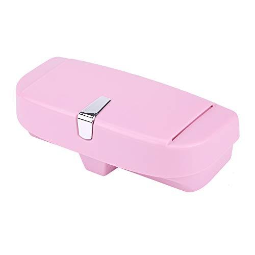 aqxreight - Soporte para gafas de coche, soporte de almacenamiento para gafas de sol versátil para coche, caja organizadora universal(rosado)
