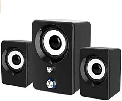 Computer Speakers, Wired USB 2.1 USB Powered PC Speakers Soundbar with Subwoofer, 3.5mm Aux Input, Volume Control for PC, Desktop, Laptop,