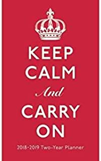 2018-2019 Keep Calm and Carry On Two Year 29-Month Checkbook Size Pocket Planner