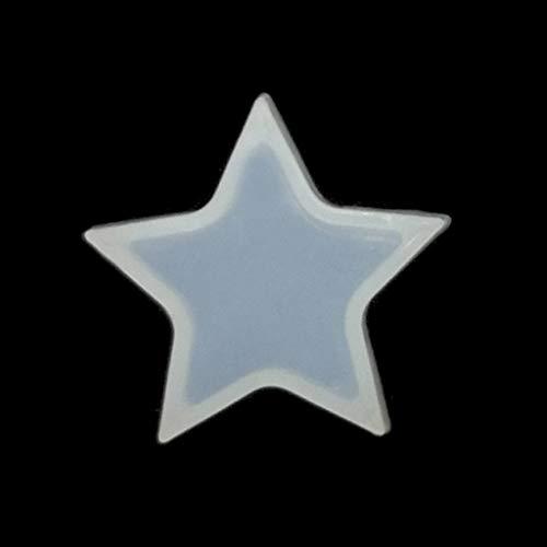 ZJL220 DIY - Molde de resina de silicona con forma de estrella y corazón