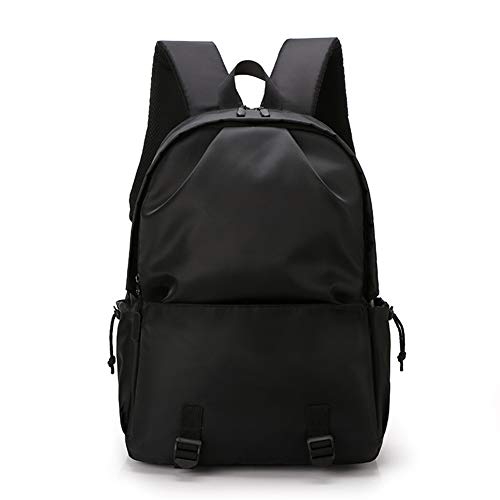 Zaino per uomo Zaino moda casual Zaino USB impermeabile Zaino per studenti Borsa sportiva per esterno Borse nere-black-Onesize