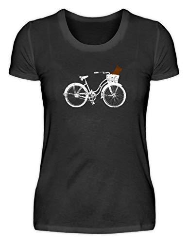Generic Perro en cesta con bicicleta holandesa Radon Tour – ¿Te gusta conducir con tu perro? – Camiseta para mujer Negro L