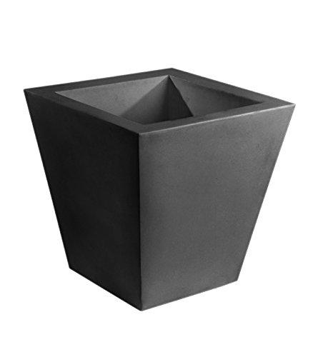 Vondom 41160 Maceta Cono Cuadrado Simple, Antracita, 60x60x60 cm
