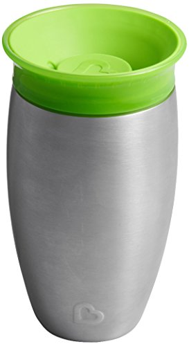 Munchkin Miracle 360°- Vaso antiderrames en acero inoxidable, verde, 296 ml