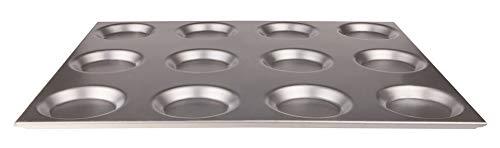 Pentole Agnelli coal18312 Plaque Gastronorm 6 12 moules, Aluminium, 53 x 65 x 1,8 cm