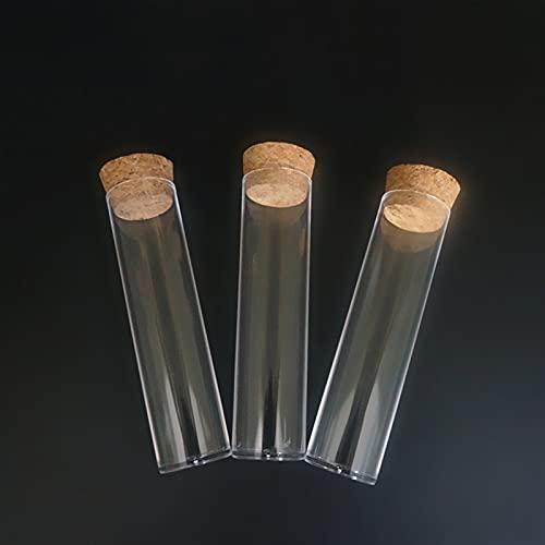 LIXIAONMKOP Laborflaschen 12pcs / Lot 25x95mm Labor Flache untere Kunststoffprüfrohre Probenschale Packungsrohr mit Korkstopfen Werkzeug