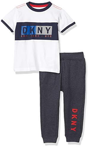 DKNY Boys' Pants Set, Yankee Dress Blue Heather, 5