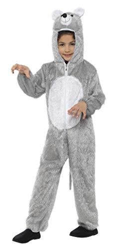 Smiffys-48190 Disfraz de ratón, Mediano, Incluye Enterizo con Capucha, Color Gris, S-Edad 4-6 años (Smiffy'S 48190)