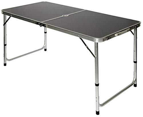 AMANKA Campingtisch 120x60cm - Alu Klapptisch Picknicktisch faltbar höhenverstallbar Anthrazit