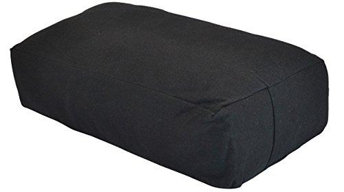 YogaAccessories MAXSupport Deluxe Rectangular Cotton Yoga Bolster -...