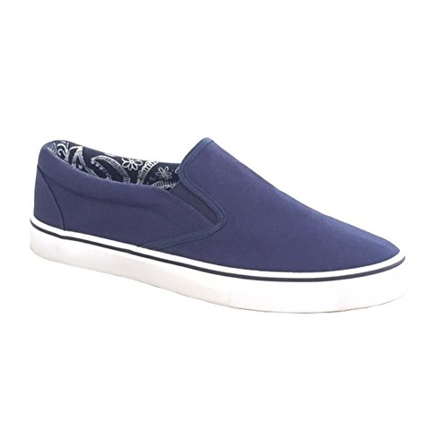 Dek Heren Canvas-Slipper (46 EU) (Marineblau)