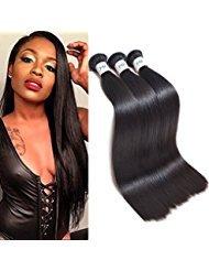 "JVH Malaysian Virgin Hair Straight Human Hair Weave 1 Bundle 100% Unprocessed Straight Virgin Hair Extensions Natural Black (16"")"